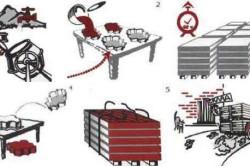 Последовательность изготовления плитки