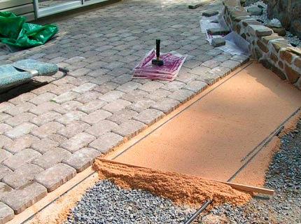 Способы укладки тротуарной плитки подготовка основания.
