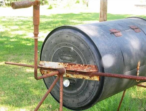 Удобная бетономешалка из бочки