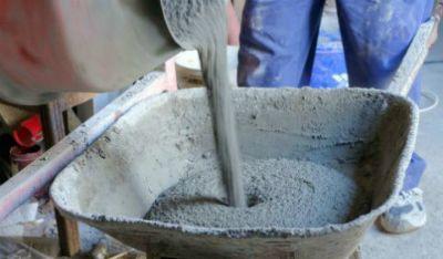 Цементный раствор для плитки.