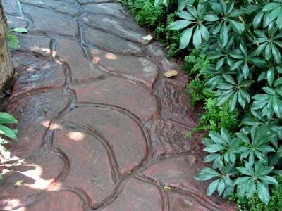 Креативная дорожка из бетона своими руками