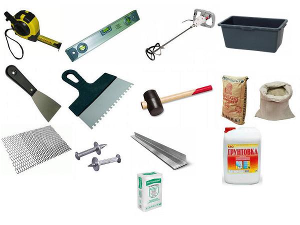 Инструмент и материалы для укладки фасадов