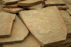 Плитки из камня-пластушки имеют серо-зеленый цвет, во влажном состоянии - темно-серый. Иногда можно встретить пластушку с желтым и красным оттенком.