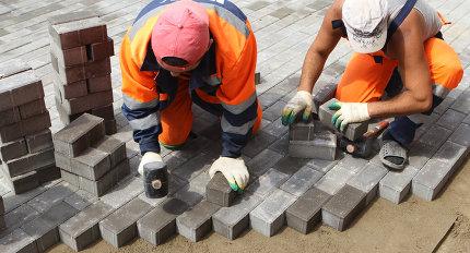 Монтаж гранитной плитки