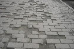 Разбитая дорога из плитки