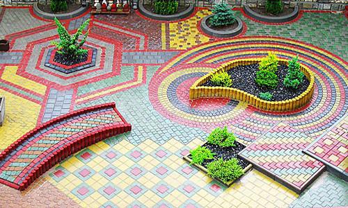Многоцветье тротуарной плитки