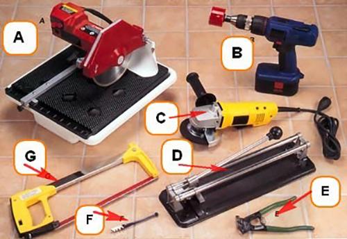 Инструменты для резки клинкерной плитки