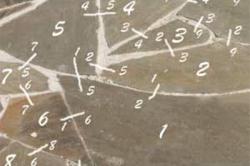Пример нумерации камней дорожки