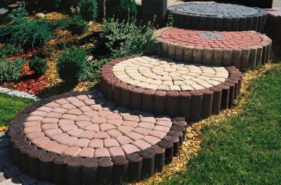 Схема укладки плитки - круговой шаблон