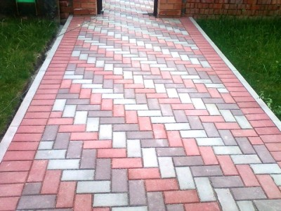 Схема укладки тротуарной плитки - елочка