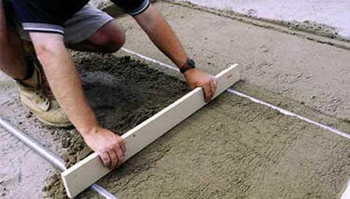 Слой бетонной стяжки