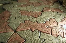 Тротуарная плитка в форме бабочки