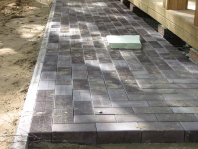 Укладка плитки на цементно-песчаный раствор