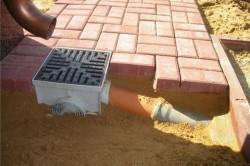 Стоки для воды необходимы для отвода осадочных вод от строений (отмостки) и предотвращения попадания воды в фундамент здания, его разрушения.