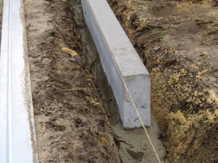 Технология установки бордюрного камня