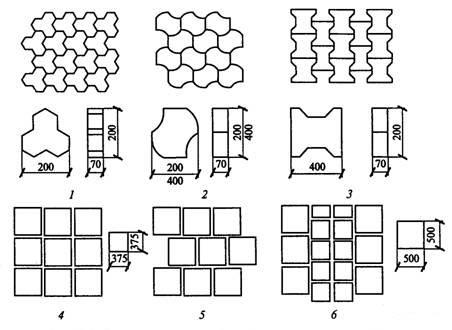 Варианты укладки тротуарной плитки по форме