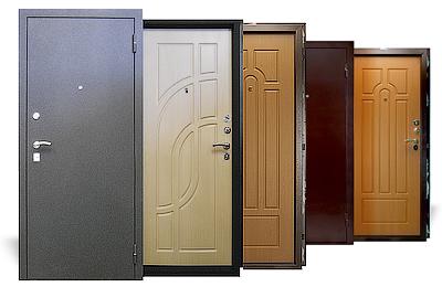 Возможные материалы для отделки двери