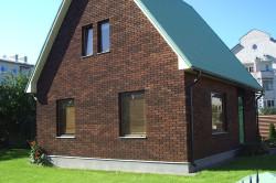 Дом облицованный клинкером