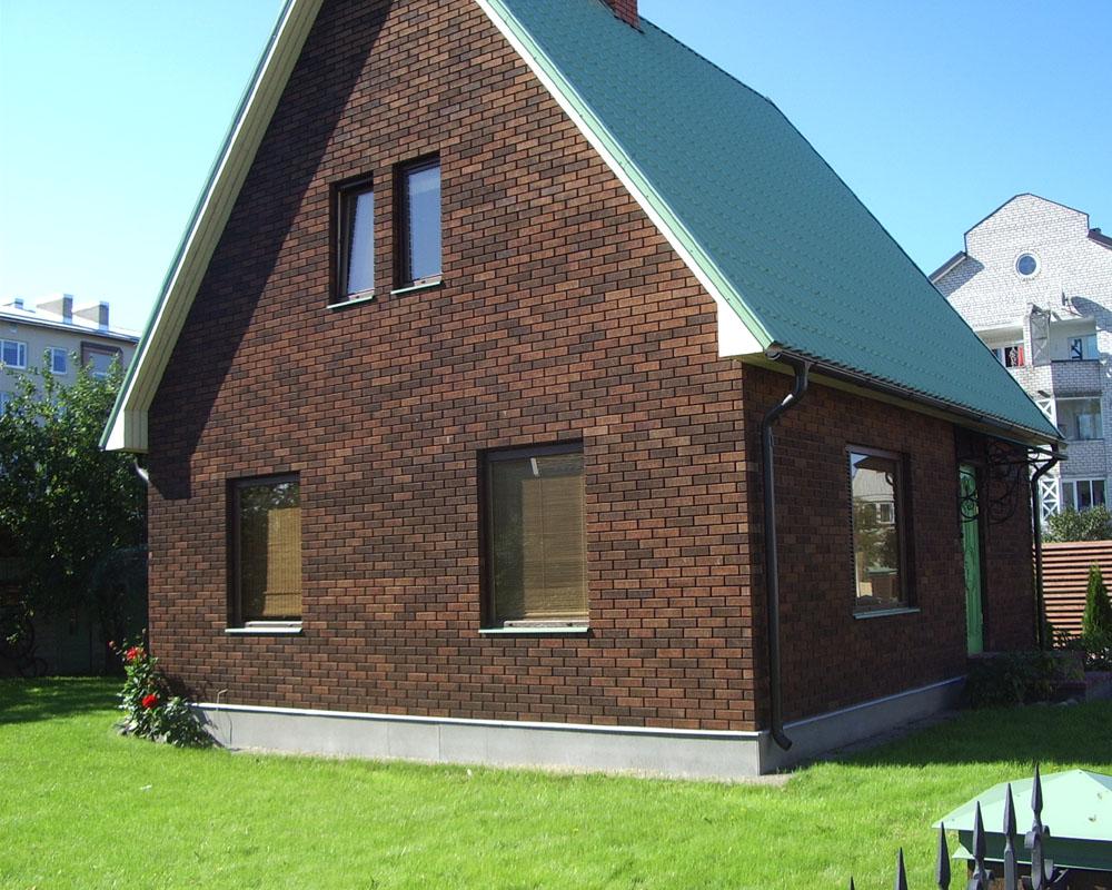 Дома из коричневого кирпича фото