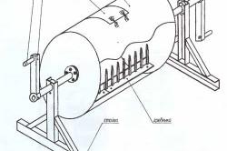 Конструкция барабанной бетономешалки