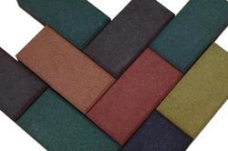 Разноцветная брусчатка самостоятельного изготовления в виде кирпича