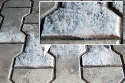 Слоевые отложения на плитке