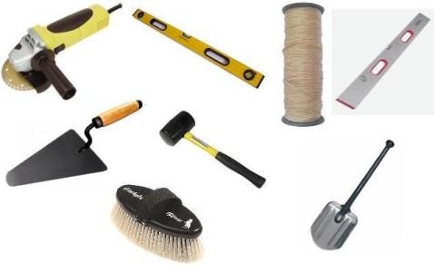 Инструменты для укладки плитки.