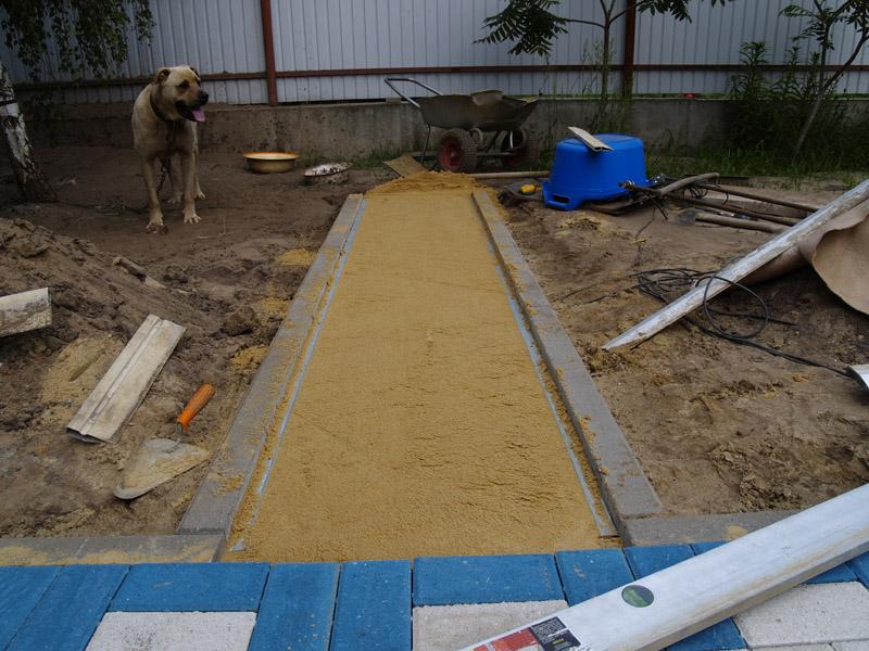 Площадка из тротуарной плитки пошаговая инструкция