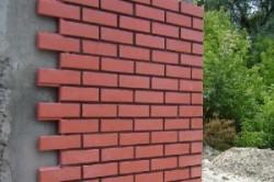 Облицовка стены клинкерной плиткой