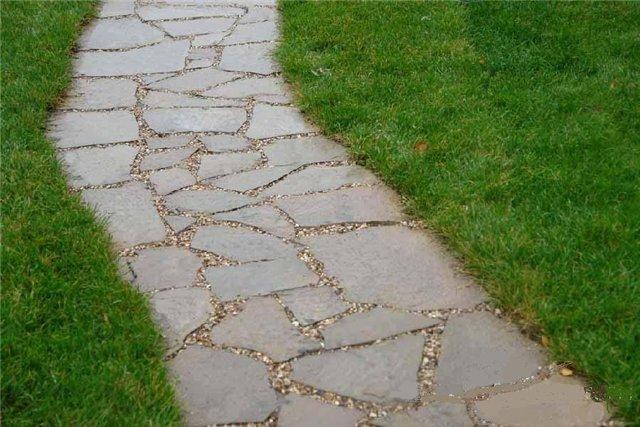 Дорога из натурального природного камня