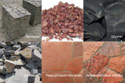 Виды природного камня