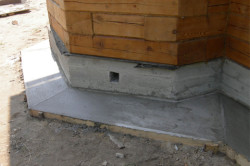 бетонная отмостка без дренажа