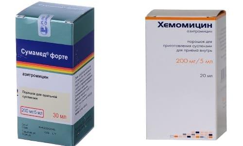 Хемомицин и Сумамед в своем составе содержат одно и то же активное соединение - азитромицин, являющийся антибиотиком широкого спектра действия