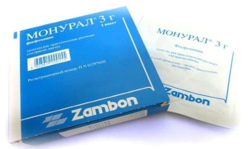 Монурал используется для проведения медикаментозной терапии острых приступов цистита бактериальной природы
