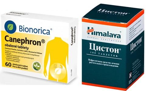 При цистите врачи нередко назначают такие препараты, как Цистон и Канефрон