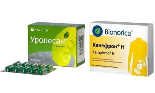 Уролесан и Канефрон содержат растительные ингредиенты и применяются для лечения и профилактики патологий почек и мочевыводящих путей, включая цистит