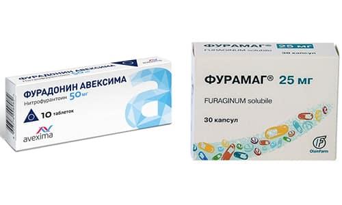 При заболеваниях почек и мочевого пузыря применяют Фурамаг и Фурадонин
