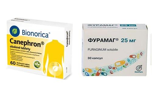 Фурамаг и Канефрон - препараты, нормализующие процесс выведения урины, в следствие воспалительных процессов в органах мочевой системы (ОМС)