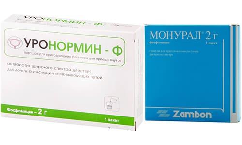 Для лечения инфекционных заболеваний мочевыводящих путей, в т. ч. и цистита, врачи нередко назначают такие препараты, как Уронормин и Монурал