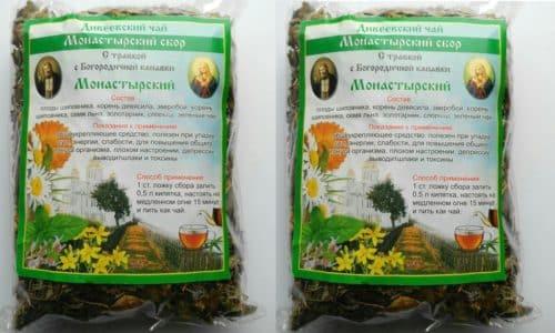В состав монастырского сбора входят 16 натуральных лекарственных растений, дополняющих действие друг друга