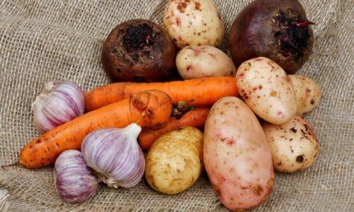 Разрешенные овощи: картофель, морковь, цветная капуста, брокколи, свекла, кабачок. Лук и чеснок, болгарский перец красный допустимы не в период обострения и не в сыром виде