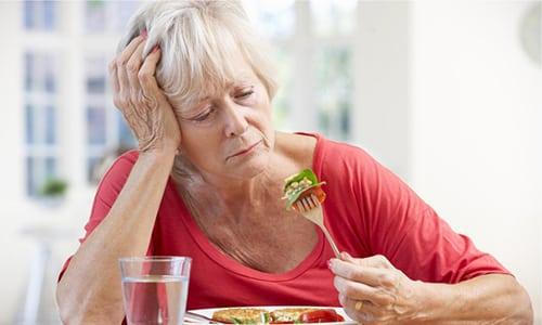При отсутствии аппетита, плохом усвоении пищи формируется физическое истощение