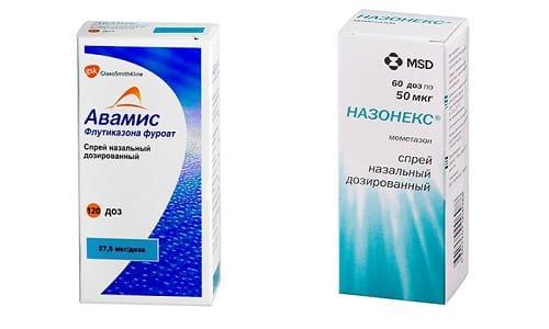 Спастись от сезонных насморков помогут препараты Назонекс или Авамис