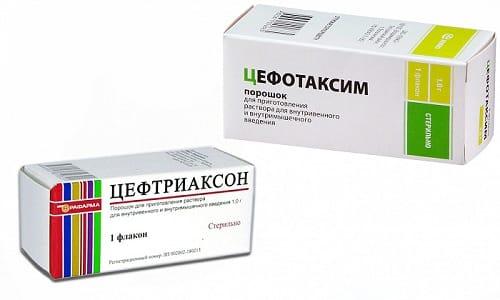 При лечении бактериальных инфекций могут использоваться такие препараты, как Цефотаксим или Цефтриаксон