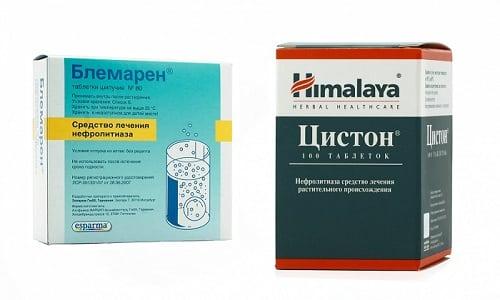 Блемарен и Цистон применяют при лечении заболеваний мочевыводящих путей (МВП), сопровождающихся образованием камней в почках или мочеточниках