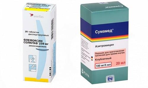 Сумамед и Флемоксин Солютаб назначаются для лечения заболеваний, спровоцированных патогенной микрофлорой бактериального происхождения