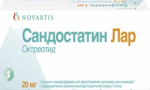 Сандостатин ЛАР является формой медикамента длительного воздействия. Его назначают 1 раз в 4 недели