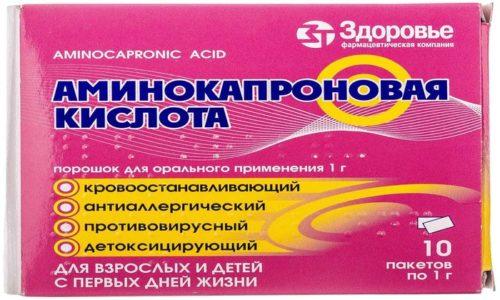 Аминокапроновая кислота используется для защиты поджелудочной железы от воздействия агрессивных ферментов