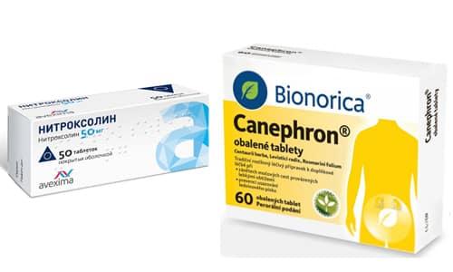 Воспалительные процессы в мочевыделительной системе чаще всего развиваются в результате переохлаждения вылечиться помогут Нитроксолин и Канефрон