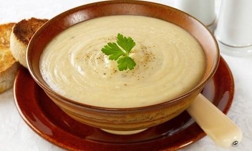 Суп-пюре из цветной капусты рекомендован к употреблению, когда необходима диета с протертыми блюдами